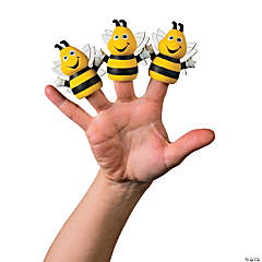 Vinyl Busy Bee Finger Puppets