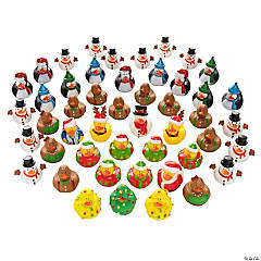 Vinyl Christmas Rubber Ducky Assortment
