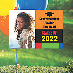 Vinyl Class of 2019 Custom Photo Yard Sign