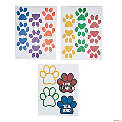 Vinyl Classroom Paw-Shaped Floor Clings