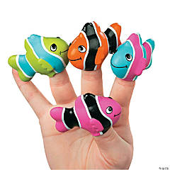 Vinyl Clown Fish Finger Puppets