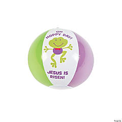 Vinyl Easter Inspirational Mini Beach Balls