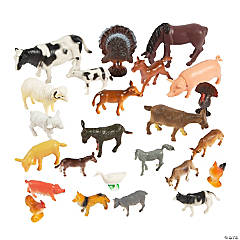 Vinyl Farm Animal Figures