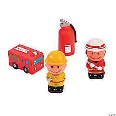 Vinyl Fire Station Play Set