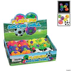 Vinyl Flashing Puffer Soccer Balls