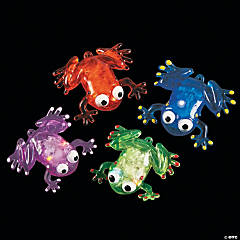 Vinyl Flashing Squishy Frogs with Beads