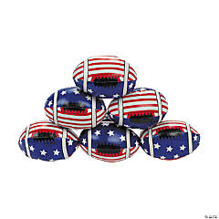 Vinyl Foam-Filled Stars And Stripes Footballs