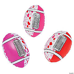 Vinyl Foam-Filled Valentine Footballs