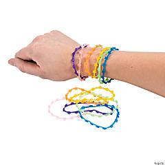 Vinyl Glitter Flower Jelly Bracelets