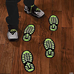 Vinyl Glow-in-the-Dark Footprint Floor Decals