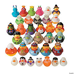 Vinyl Halloween Rubber Ducky Assortment