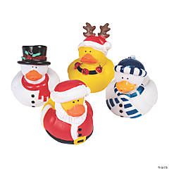 Vinyl Holiday Rubber Duckies PDQ