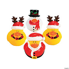 Vinyl Holiday Rubber Duckies