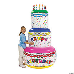 Vinyl Inflatable Jumbo Birthday Cake