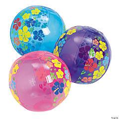 Vinyl Inflatable Mini Hibiscus Beach Balls