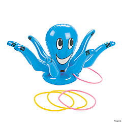 Vinyl Inflatable Smiling Octopus Ring Toss Game