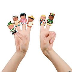 Vinyl Kids Around the World Finger Puppets