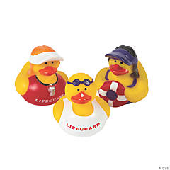 Vinyl Lifeguard Rubber Duckies
