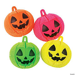 Vinyl Light-Up Jack-O'-Lantern Puffer Ball YoYos PDQ