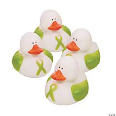 Vinyl Lime Green Awareness Ribbon Rubber Duckies