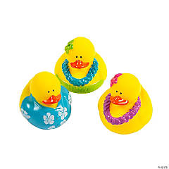 Vinyl Luau Rubber Duckies