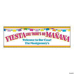 Vinyl Medium Fiesta Like There's No Mañana Personalized Banner