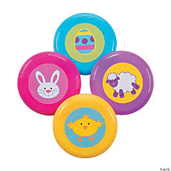 Vinyl Mini Easter Flying Disks