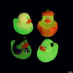 Vinyl Mini Glow-in-the-Dark Halloween Rubber Duckies
