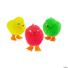 Vinyl Mini Light-Up Puffer Chicks PDQ