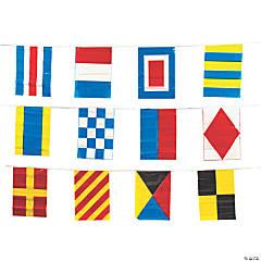 Vinyl Nautical Line-Of-Flags