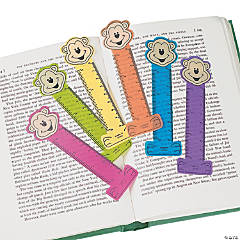 Vinyl Neon Monkey Ruler Bookmarks