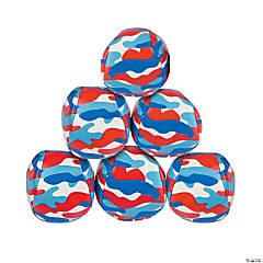 Vinyl Patriotic Camouflage Kick Balls