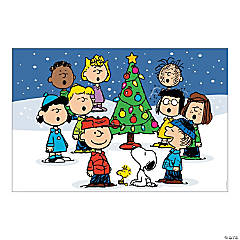 Vinyl Peanuts® Christmas Backdrop Banner