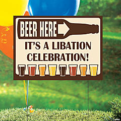 Vinyl Personalized Beer Party Yard Sign