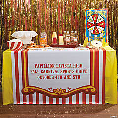 Vinyl Personalized Carnival Table Runner
