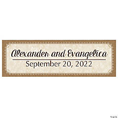 Vinyl Personalized Medium Rustic Wedding Banner