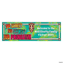 Vinyl Personalized Small No Problem Banner