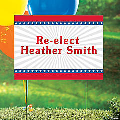 Vinyl Personalized Stars & Stripes Yard Sign