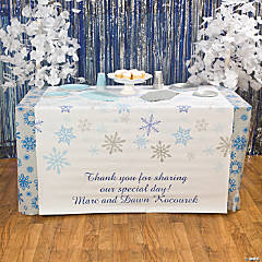 Vinyl Personalized Winter Wonderland Table Runner