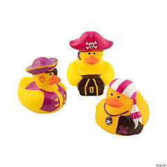 Vinyl Pink Pirate Rubber Duckies