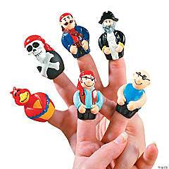 Vinyl Pirate Finger Puppets