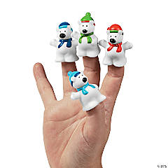 Vinyl Polar Bear Finger Puppets