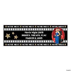 Vinyl Premiere Night Small Custom Photo Banner