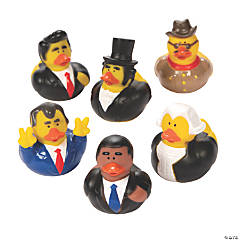 Vinyl President Rubber Duckies