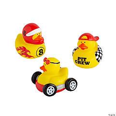 Vinyl Race Car Driver Rubber Duckies