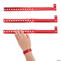 Vinyl Red Laser Wristbands