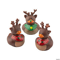 Vinyl Reindeer Rubber Duckies