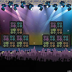 Vinyl Rock Star Backdrop Banner