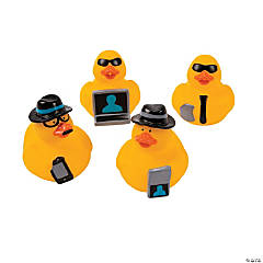 Vinyl Secret Agent Rubber Duckies