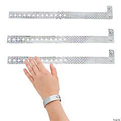 Vinyl Silver Laser Wristbands